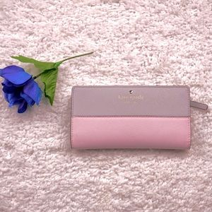 Kate Spade Bifold Pink and Gray Wallet
